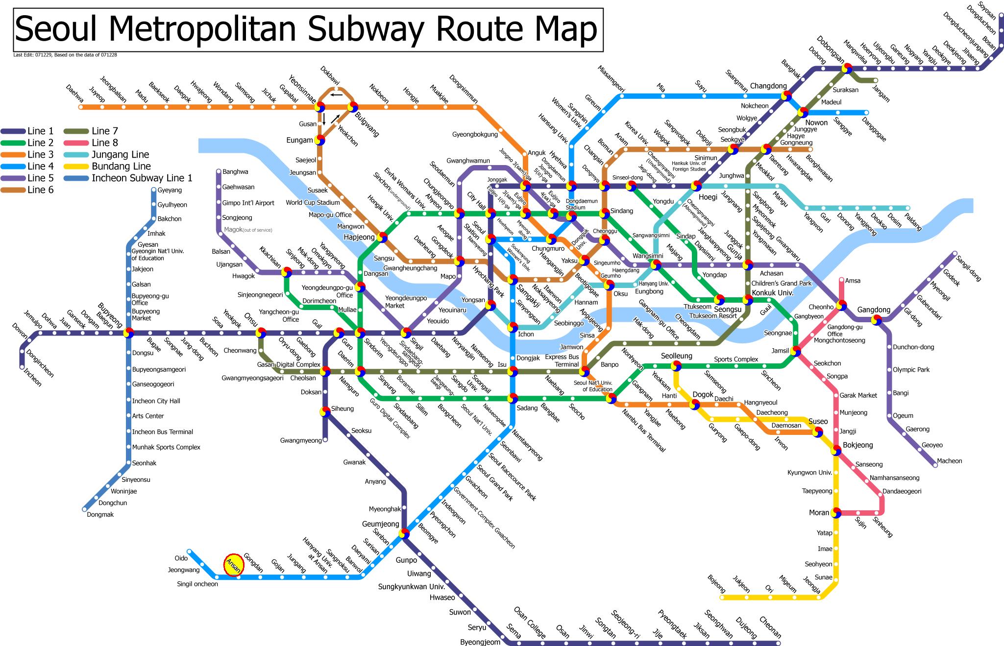 Korea Subway Map Line 5.Seoul Subway Map Seoul Sublet